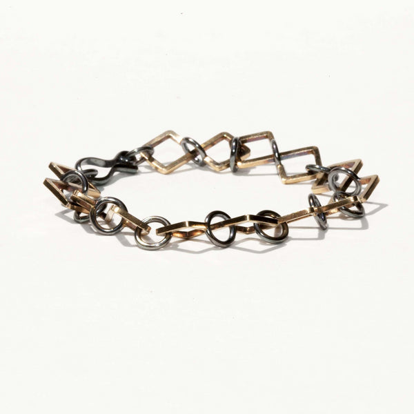 GOLD & SILVER SMALL LINK BRACELET
