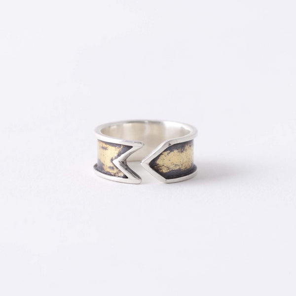 ANTIQUED CUFF RING