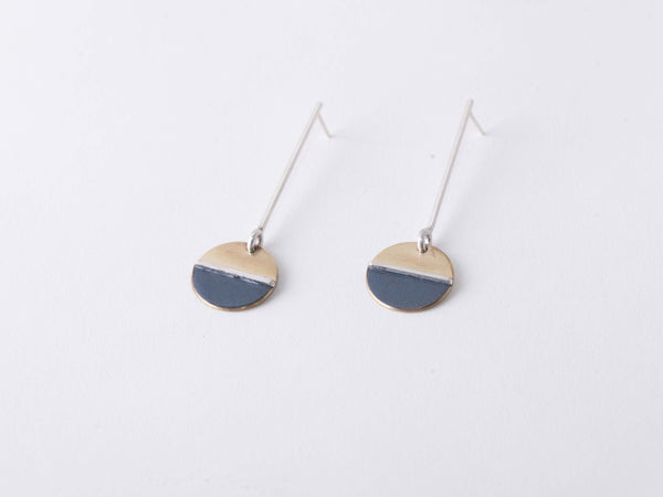 BLUE & BRASS EARRINGS No. 2