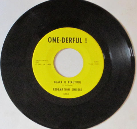 Redemption Singers - Black Is Beautiful b/w Hiney In The Bee-Bo 7""