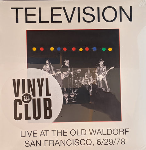 Television - Live at the Old Wardorf SF 6/29/78  2 LP
