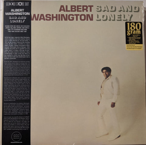 Albert Washington - Sad And Lonely LP
