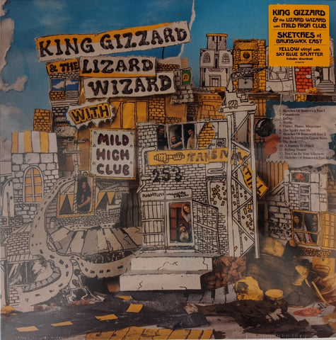 King Gizzard & Lizard Wizard - Sketches of Brunswick East LP Ltd Yellow & Blue Splatter