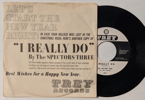 "Spectors Three - I Really Do 7"" Promo w/  Picture Sleeve"