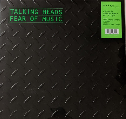 Talking Heads - Fear of Music LP EU Import w/ Embossed Cover