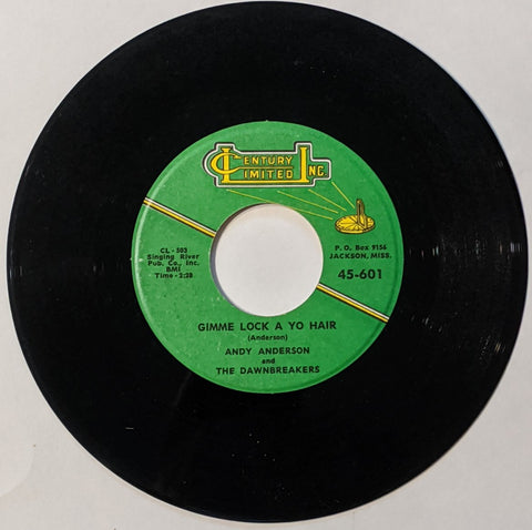 "Andy Anderson - Gimme Lock A Yo Hair 7"" Repro"