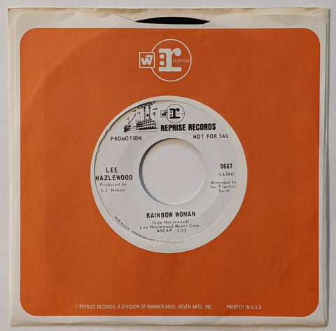 "Lee Hazelwood - Rainbow Woman b/w I Am, You Are 7"" Promo"