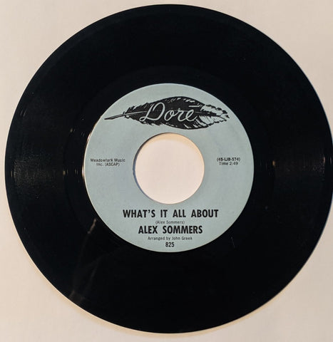Alex Summers - What's It All About b/w HVMS  7""