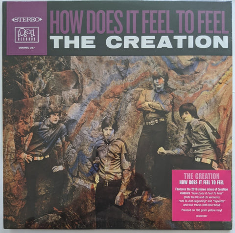 Creation - How Does It Feel To Feel LP Ltd 180 gram Yellow Vinyl EU Import