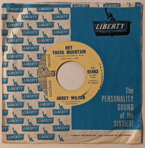 "Obrey Wilson - Hey There Mountain b/w Say It Again 7"" Promo Label"