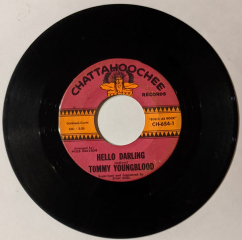 Tommy Youngblood - Hello Darling b/w Did I Ever Make You Cry 7""