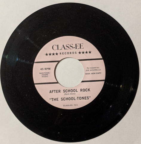 "School-Tones - After School Rock b/w Class-Tones - Roach's Rock   7"" Repro"