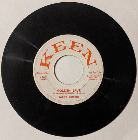 Jackie Gotroe - Golden Spur b/w Summer Lightning  7""