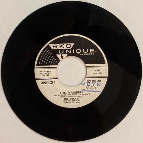 Joe Tucker - The Vampire b/w Who Knows? 7""
