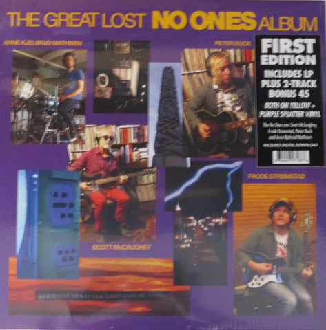"No Ones - Great Lost No Ones Album LP + 7"" Ltd Yellow & Purple Splatter Vinyl"