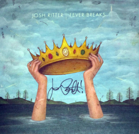 Josh Ritter - Fever Breaks LP SIGNED Coke Bottle Clear