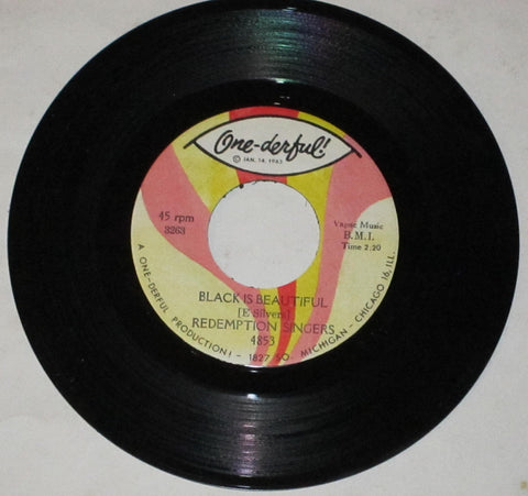 "Redemption Singers - Black Is Beautiful 7"" b/w Honey In The Be-Bo"
