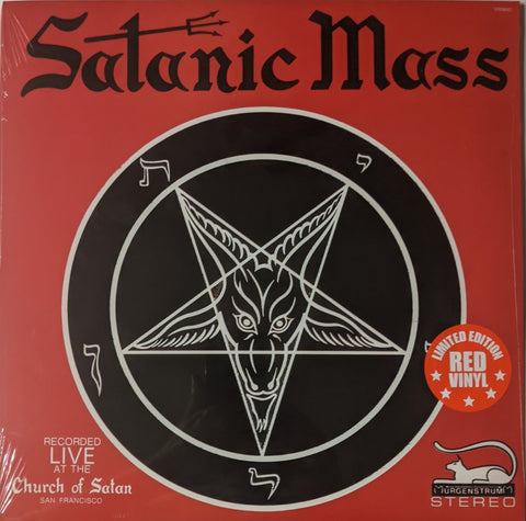 Anton La Vey - Satanic Mass LP Ltd Red Vinyl