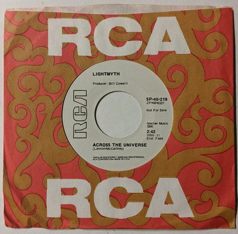 "Lightmyth - Across the Universe b/w Same 7"" Promo Label"