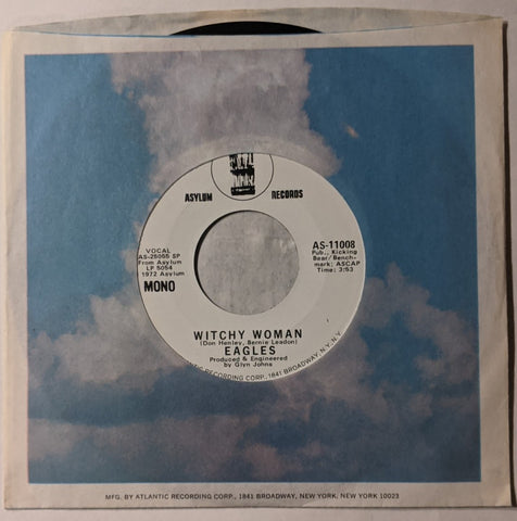 "Eagles - Witchy Woman Mono b/w Stereo 7"" Promo Label"