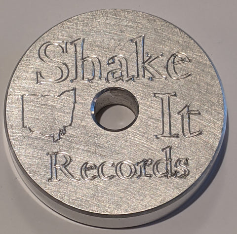 "Shake It Records Custom Etched Aluminum 45 / 7"" Adapter"