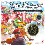 Various - Play It Like You Did Back to George St: An Anthology of Cincinnati Blues 1924-36 (2 LP)