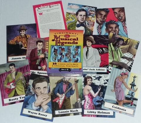 Cincinnati Musical Legends Trading Cards Set #1