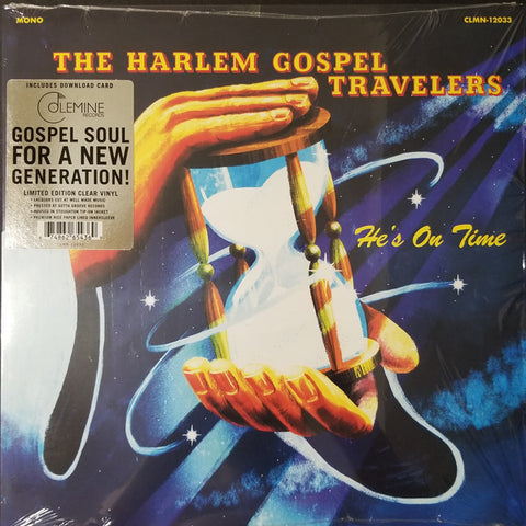Harlem Gospel Travelers - He's On Time LP Ltd. Ed. Clear Vinyl