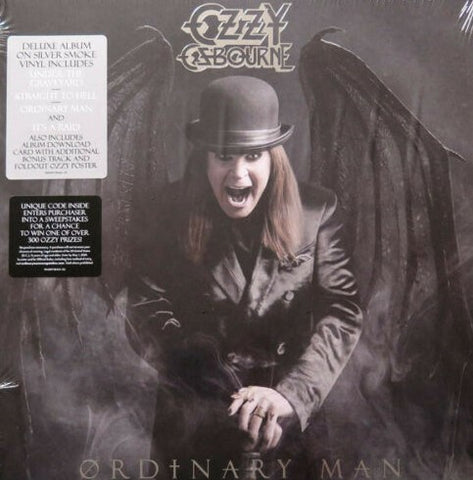 Ozzy Osbourne - Ordinary Man LP Ltd Silver Smoke Vinyl + Poster