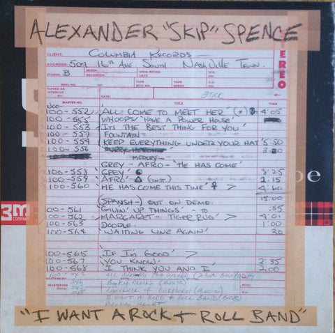 "Alexander ""Skip"" Spence - I Want A Rock n Roll Band 7"" RSD 2019"