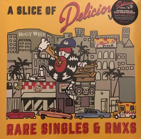 V/A Slice of Delicious : Rare Singles & RMXS LP Ltd. Ed. Red Vinyl
