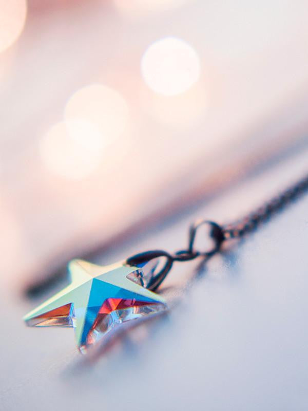 Swarovski crystal star pendant necklace - 13th Psyche