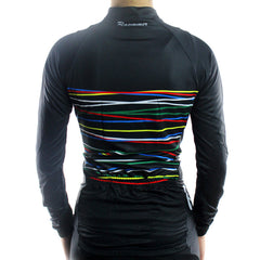 Women s Long Sleeve Cycling Jersey - Crossed Wires in Black ... 01e4cbfa9