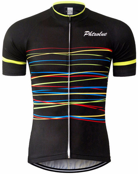 Men s Black Short Sleeve Cycling Jersey - Crossed Wires in Black 89958869d