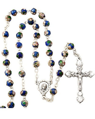Cloissone Bead Fine Rosary Featuring The Madonna