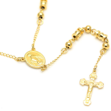 Gold-Plated Stainless Steel Durable Rosary Beads