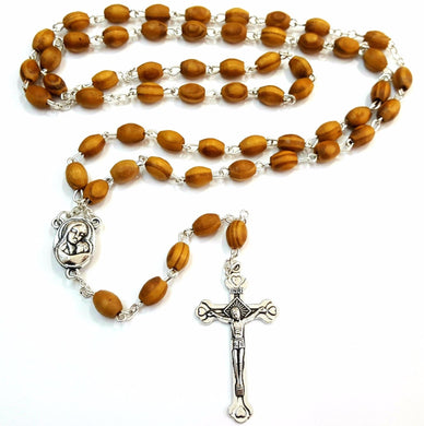 Handsome Olivewood Rosary from Israel