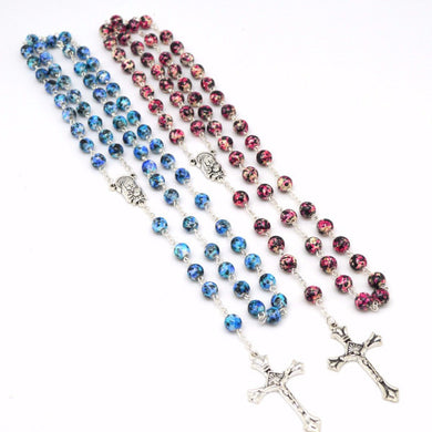 Madonna Cloisonne Beaded Rosary