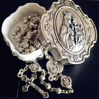 Limited Edition - Silver Rose Lady of Grace Rosary
