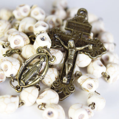 Limited Edition Skull Pardon Crucifix Rosary