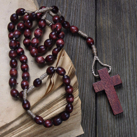 Wooden Travel Rosary - Rosary Beads as Strong as Your Faith