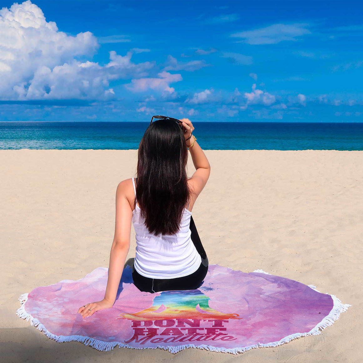 Meditate Beach Blanket