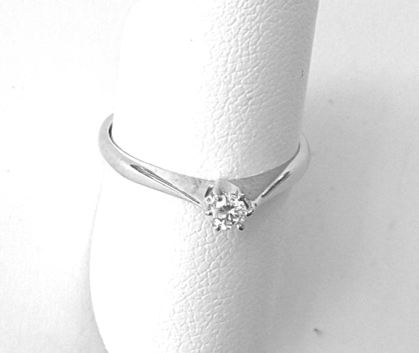 Solitaire ring 0,11 i/si