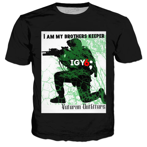 Veteran Outfitters I Am My Brothers Keeper Black Shirt IGY6