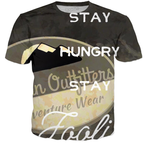 Veteran Outfitters Stay Hungry Stay Foolish All Over Print Shirt