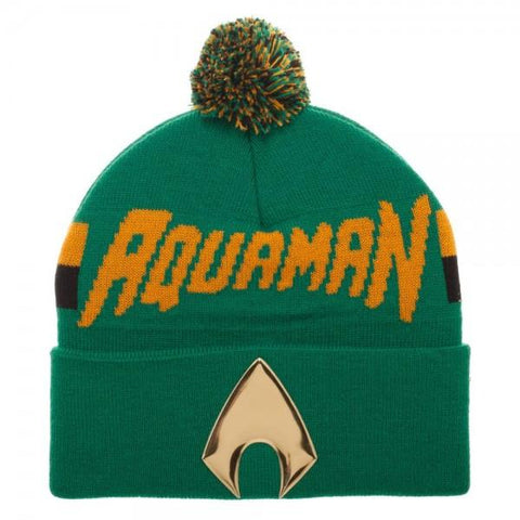 Aquaman Chrome Weld Knit Beanie