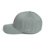 Hullabaloo Interlocking Stylized A and M Flexfit Structured Twill Cap