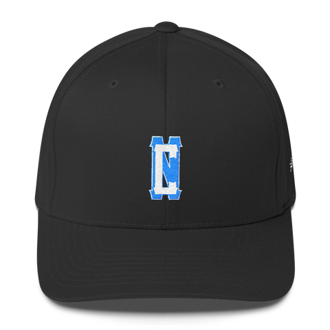 542Blue NC Interlocked Flexfit Structured Twill Cap