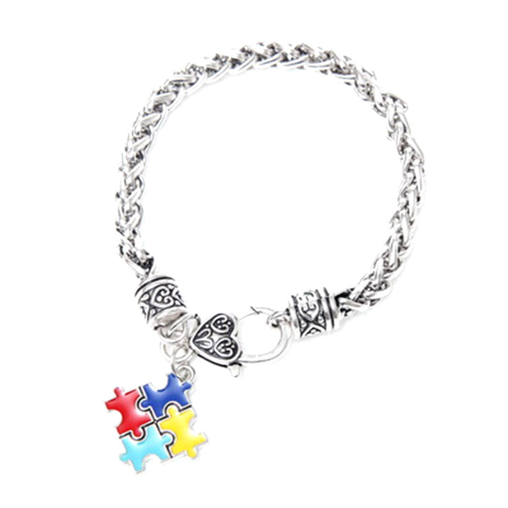 Women's Autistm Awareness Charm Bracelet