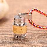 Tibetan Prayer Wheel Rotating Necklace